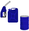 Fuel pump barrel and canister vector image vector image