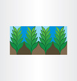 garden plant icon background vector image vector image