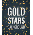 gold stars bakground vector image vector image