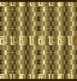 gold textured 3d greek seamless pattern vector image vector image