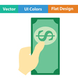 Had holding dollar icon vector image vector image