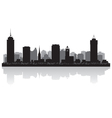 Hamilton Canada city skyline silhouette vector image vector image