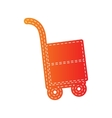 Hand truck sign Orange applique isolated vector image vector image