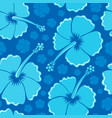 hibiscus seamless background 1 vector image