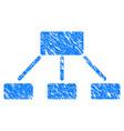 hierarchy grunge icon vector image vector image