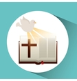 holy spirit bible icon design vector image vector image
