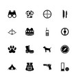 hunting - flat icons vector image vector image