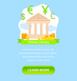 internet banking flat landing page template vector image vector image