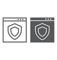 internet security line and glyph icon safety and vector image vector image