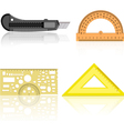 Knife ruler protractor vector image