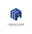 ma initial logo designs creative logo vector image vector image