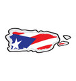 map of puerto rico with its flag vector image vector image