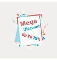 Mega Discount Discount sticker Offer vector image vector image