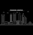memphis silhouette skyline usa - memphis vector image vector image