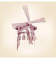 Moulin Rouge Paris llustration vector image