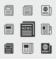 news icons set vector image
