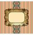 obsolete royal gold frame design element vector image vector image