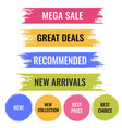 paint banner set isolated white background vector image vector image