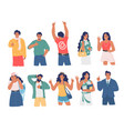 people gesturing to show consent flat vector image
