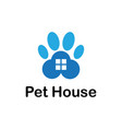 pet house business logo vector image