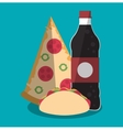 Pizza taco and soda of fast food concept vector image vector image