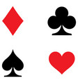 playing card symbols set vector image vector image
