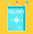 Pool party poster summer party invitation flyer