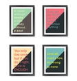Quotes motivation frames set vector image vector image
