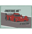 Race car poster vector image vector image