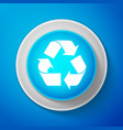 recycle symbol environment recyclable go green vector image vector image