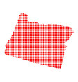 red dot map of oregon vector image vector image