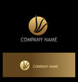round loop wing abtsract gold logo vector image vector image