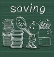 saving money vector image vector image