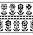 scandinavian seamless folk art pattern vector image