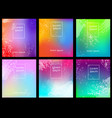 set abstract multicolored gradient background vector image vector image