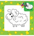 sheep coloring page vector image