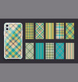 smartphone cover design mockup template geometric vector image vector image