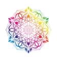 Spectral Flower Mandala Over White