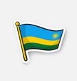 sticker national flag rwanda vector image vector image