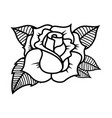 tattoo style rose on white background design vector image
