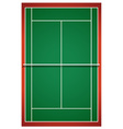Tennis court from top view vector image