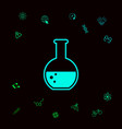 test-tube with bubbles symbol icon graphic vector image