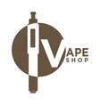 vape shop logo vector image vector image
