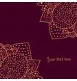 Vintage invitation corners on grunge background vector image
