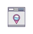 washing machine icon color vector image