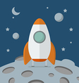 Rocket landed on the moon vector image