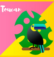 a bright tropical bird vector image