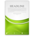 Abstract green wavy modern flyer design vector image vector image
