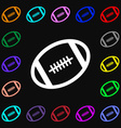 american football icon sign Lots of colorful vector image