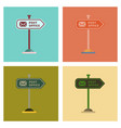 assembly flat icons sign post office vector image vector image